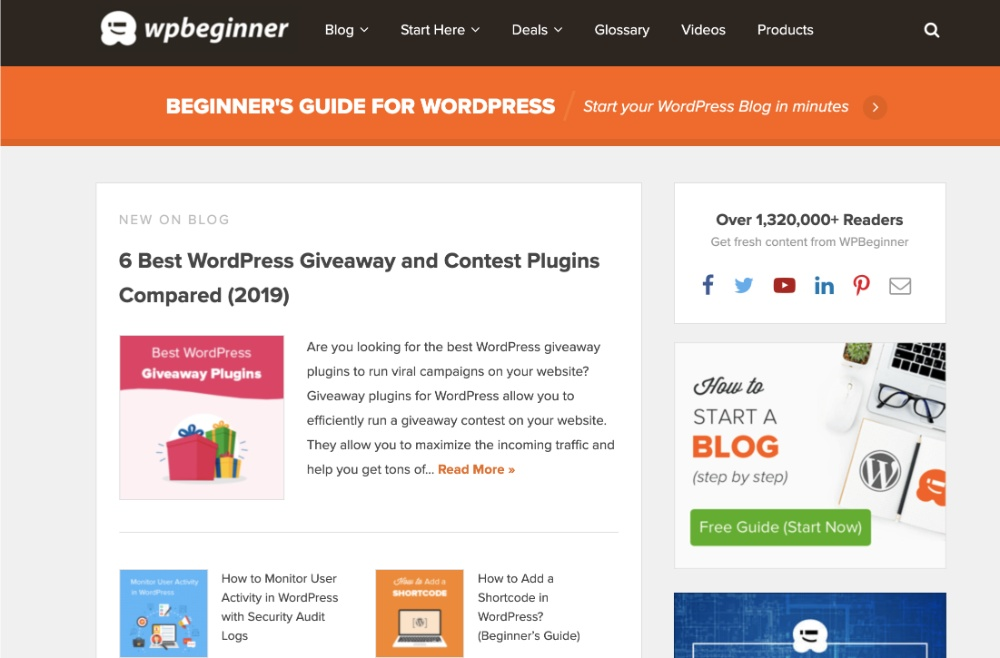 Start with WPBeginner