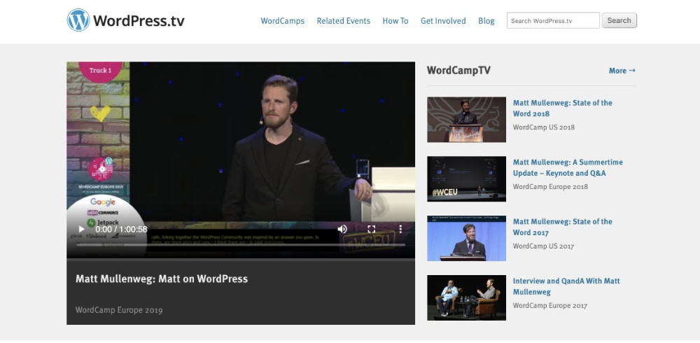 Watch WordPress TV